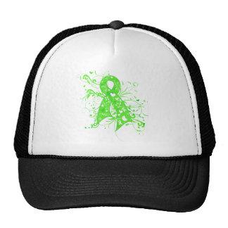 Non-Hodgkins Lymphoma Floral Swirls Ribbon Mesh Hat