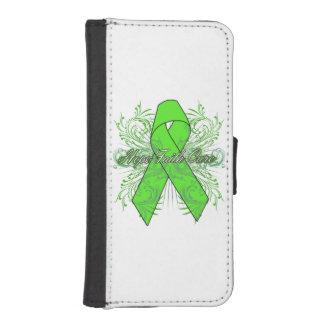 Non-Hodgkins Lymphoma Flourish Hope Faith Cure iPhone 5 Wallet Case