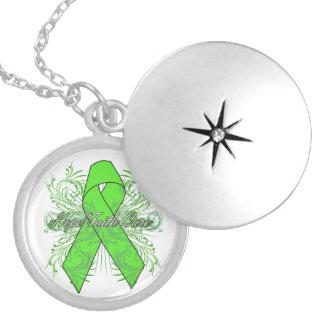 Non-Hodgkins Lymphoma Flourish Hope Faith Cure Pendant