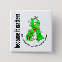 Non-Hodgkin's Lymphoma Flower Ribbon 3 Button