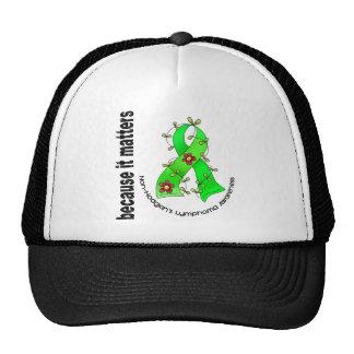 Non-Hodgkin's Lymphoma Flower Ribbon 3 Trucker Hats