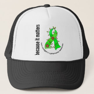 Non-Hodgkin's Lymphoma Flower Ribbon 3 Trucker Hat