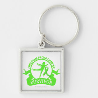 Non-Hodgkins Lymphoma - Freedom From Cancer Silver-Colored Square Keychain