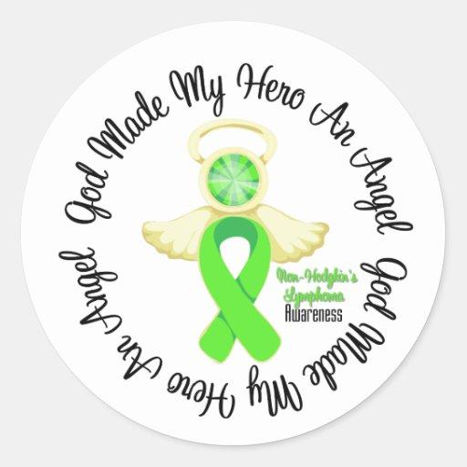 Non-Hodgkins Lymphoma God Made My Hero An Angel Classic Round Sticker