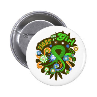 Non-Hodgkin's Lymphoma Groovy Fight Like A Girl Pinback Button