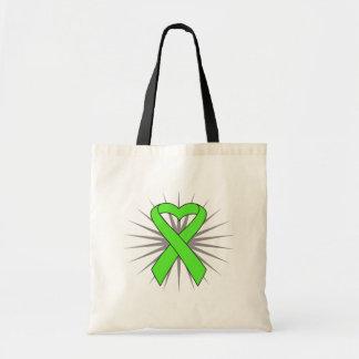 Non-Hodgkins Lymphoma Heart Ribbon Bags