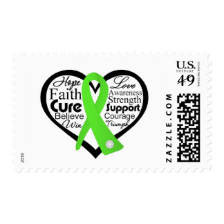 Non-Hodgkins Lymphoma Heart Ribbon Collage Postage Stamp