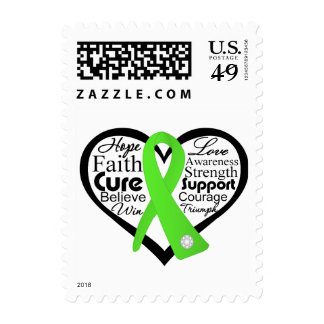 Non-Hodgkins Lymphoma Heart Ribbon Collage Stamp