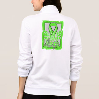 Non-Hodgkins Lymphoma Hope Butterfly Portrait Printed Jacket