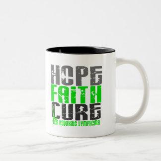 Non-Hodgkin's Lymphoma HOPE FAITH CURE 1 Two-Tone Coffee Mug