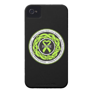 Non-Hodgkins Lymphoma Hope Intertwined Ribbon iPhone 4 Case-Mate Case