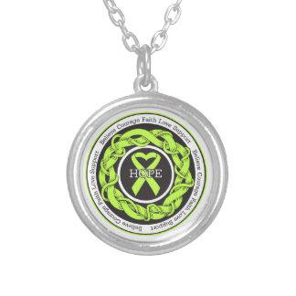 Non-Hodgkins Lymphoma Hope Intertwined Ribbon Custom Jewelry