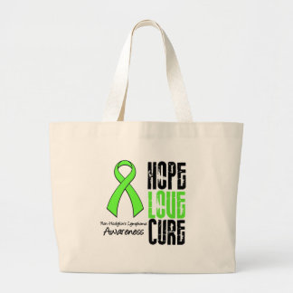 Non-Hodgkin's Lymphoma Hope Love Cure Ribbon Jumbo Tote Bag