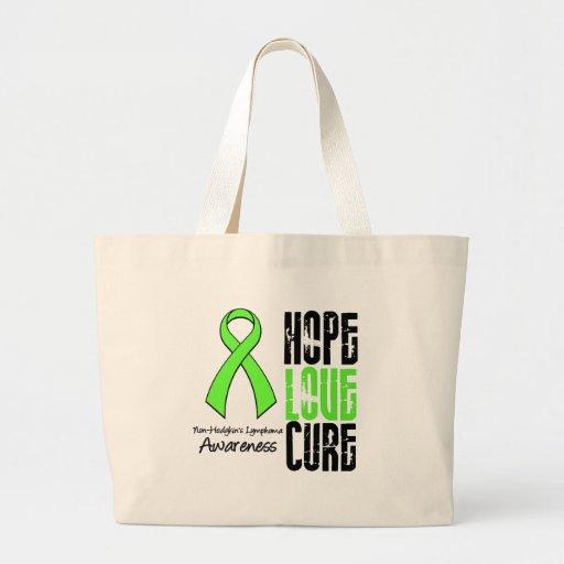 Non-Hodgkin's Lymphoma Hope Love Cure Ribbon Tote Bag