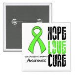 Non-Hodgkin's Lymphoma Hope Love Cure Ribbon Button
