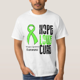 Non-Hodgkin's Lymphoma Hope Love Cure Ribbon T-Shirt