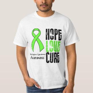 Non-Hodgkin's Lymphoma Hope Love Cure Ribbon Tee Shirt