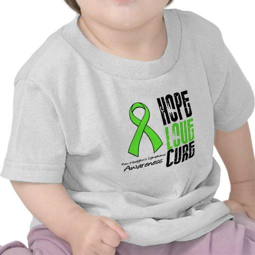 Non-Hodgkin's Lymphoma Hope Love Cure Ribbon Tees