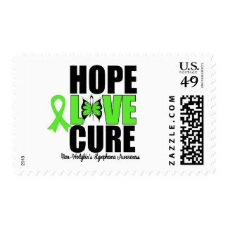 Non-Hodgkins Lymphoma Hope Love Cure V2 Postage