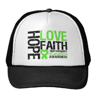 Non-Hodgkin's Lymphoma Hope Love Faith Hats