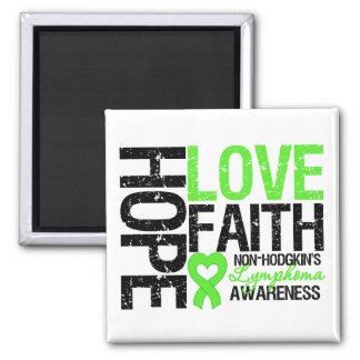 Non-Hodgkin's Lymphoma Hope Love Faith Magnets