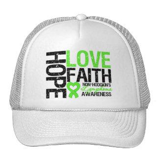 Non-Hodgkin's Lymphoma Hope Love Faith Mesh Hats