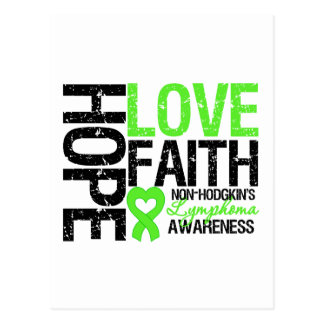 Non-Hodgkin's Lymphoma Hope Love Faith Postcard