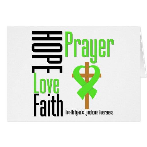 Non-Hodgkins Lymphoma Hope Love Faith Prayer Cross Cards