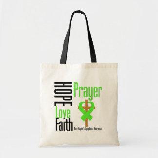 Non-Hodgkins Lymphoma Hope Love Faith Prayer Cross Tote Bag