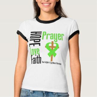 Non-Hodgkins Lymphoma Hope Love Faith Prayer Cross Tshirt