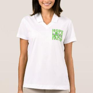 Non-Hodgkins Lymphoma Hope Love Faith Survivor Polo T-shirt