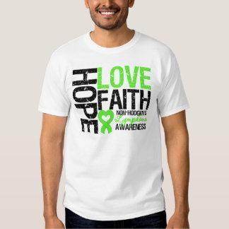 Non-Hodgkin's Lymphoma Hope Love Faith T Shirts