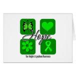 Non Hodgkins Lymphoma Hope Love Inspire Awareness Greeting Cards