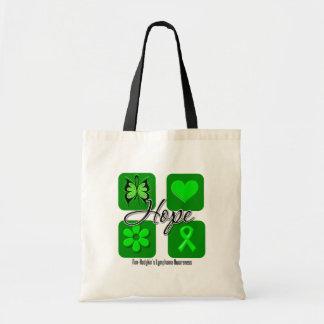 Non Hodgkins Lymphoma Hope Love Inspire Awareness Tote Bag