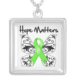 Non-Hodgkins Lymphoma Hope Matters Square Pendant Necklace