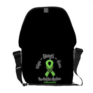 Non-Hodgkins Lymphoma Hope Strength Love Messenger Bag