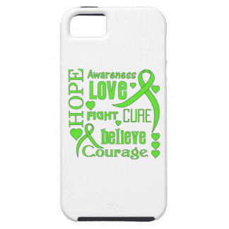 Non-Hodgkins Lymphoma Hope Words Collage iPhone 5 Cases