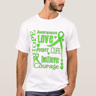 Non-Hodgkins Lymphoma Hope Words Collage T-Shirt
