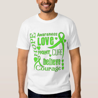 Non-Hodgkins Lymphoma Hope Words Collage Tee Shirt