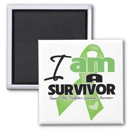 Non-Hodgkins Lymphoma - I am a Survivor Fridge Magnet