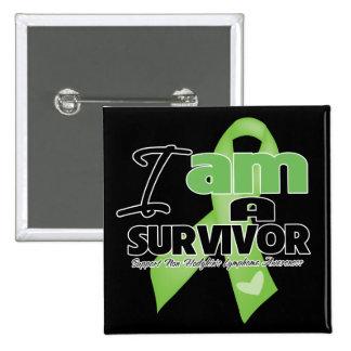 Non-Hodgkins Lymphoma - I am a Survivor Pinback Button