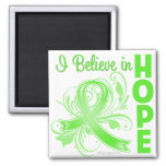 Non-Hodgkins Lymphoma I Believe in Hope 2 Inch Square Magnet