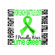 Non-Hodgkin's Lymphoma I Proudly Wear Lime Green 2 Postcard