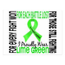 Non-Hodgkin's Lymphoma I Proudly Wear Lime Green 2 Postcard