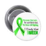 Non-hodgkins Lymphoma I Proudly Wear Lime Green Pin