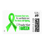 Non-hodgkins Lymphoma I Proudly Wear Lime Green Postage Stamps