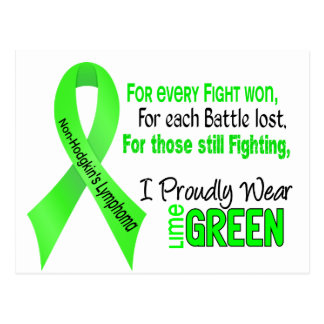 Non-hodgkins Lymphoma I Proudly Wear Lime Green Postcard