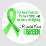 Non-hodgkins Lymphoma I Proudly Wear Lime Green Classic Round Sticker