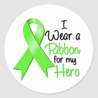 Non-Hodgkins Lymphoma I Wear a Ribbon For My Hero Classic Round Sticker