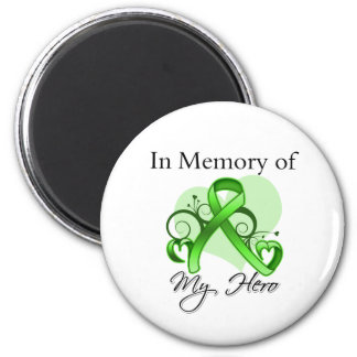 Non-Hodgkins Lymphoma In Memory of My Hero 2 Inch Round Magnet